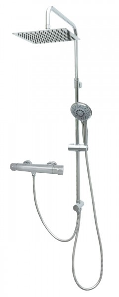 Thermostat Duschgarnitur Duschset Regenbrausekopf Chrom MSF25-812T