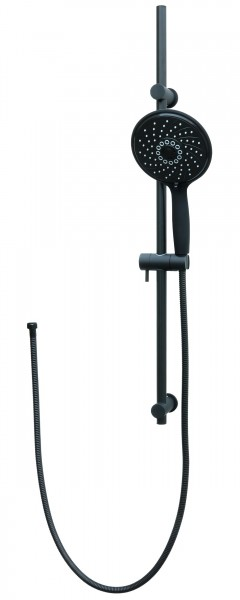 Duschset Duschstange Duschsystem Brauseset Dusche Schwarz S80-D15B-150cm