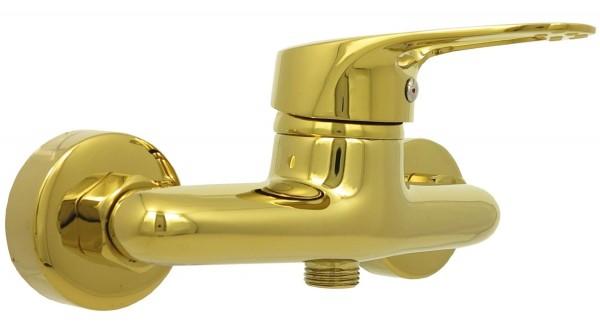 Mischbatterie Einhebelmischer Dusche Armatur Brausearmatur Gold 012-2