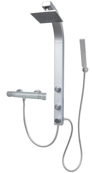 Duschsystem Thermostat Duschsäule Regenwalddusche Eckmontage Silber 081cs-T