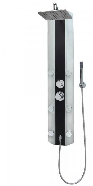 Duschpaneel Duschsäule Dusche Regendusche Thermostat Silber Schwarz A029T-24x19