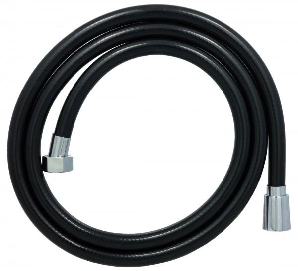 150 cm PVC Brauseschlauch Duschschlauch Schwarz in 1/2 Zoll