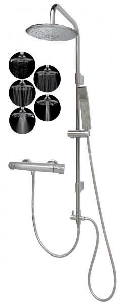 Thermostat Duschgarnitur Brausegarnitur mit Regendusche variabel 2525-R5-812T