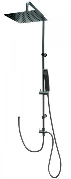 Duschset Regendusche Edelstahl Duschsystem Dusche Duschgarnitur Schwarz 304