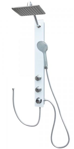 Sanitär Glas Duschpaneel Brausepaneel Duschsäule in Weiß 085-7W-24x19