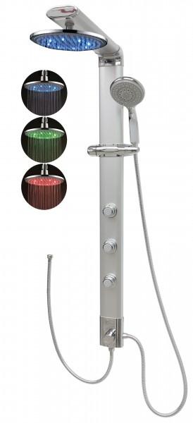 Duschpaneel Duschsäule Dusche Duschset Led Regendusche Silber 035cs-0820