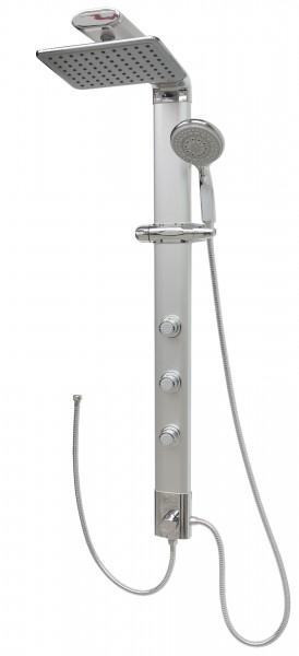 Duschpaneel ohne Armatur Silber Duschsäule Duschset Eckmontage 035cs-24x19