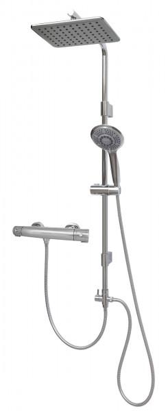 Duschgarnitur mit Thermostat Dusche Brausegarnitur Regenbrausekopf 12003-812T