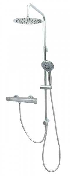 Thermostat Duschgarnitur Duschset Regenbrausekopf Chrom MSR10-812T