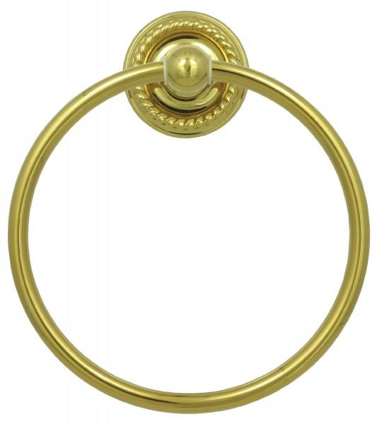 Retro Handtuch Handtuchring Wandhalter Handtuch Ring Halter in Gold 9007