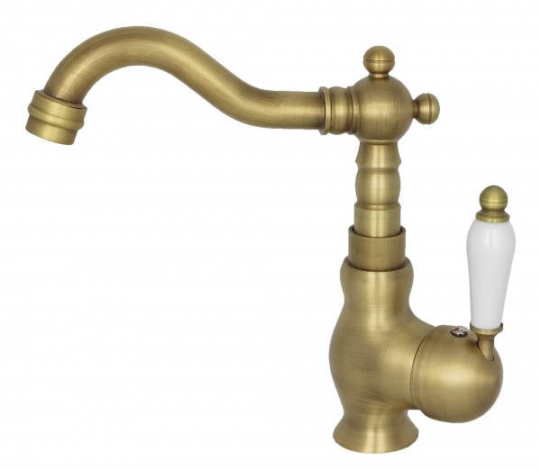 Retro Waschbecken Wasserhahn Waschtisch Armatur Einhebelmischer Antik 8115