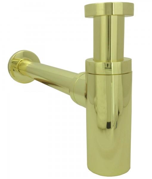 Flaschensiphon Siphon Waschbecken Geruchsverschluss Ablaufgarnitur Gold 2100