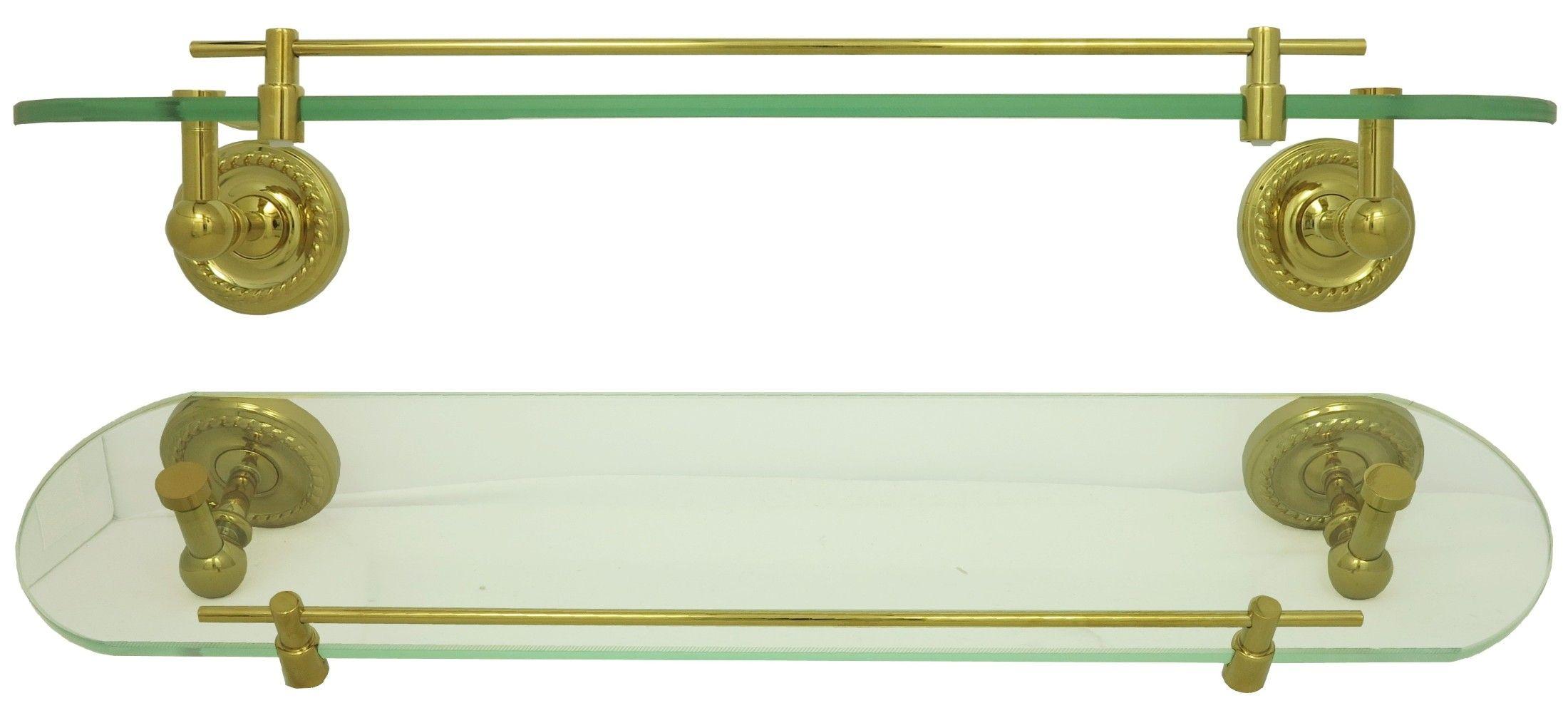 Retro Glasablage Ablagekonsole Badablage Glas Regal Ablage Bad Gold 9012 |  Badarmaturen Welt.de