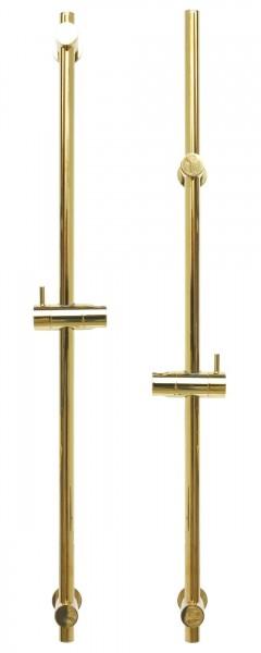 Brausestange variabel Duschstange Gold mit verstellbarem Brausehalter S80