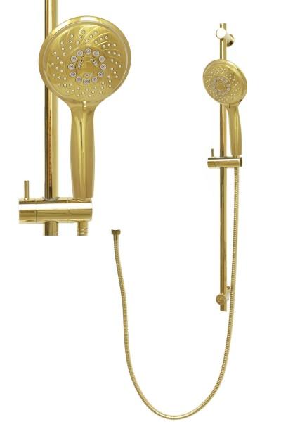 Duschset Duschstange variabel Handbrause Brauseschlauch Gold S80-D12G-150cm
