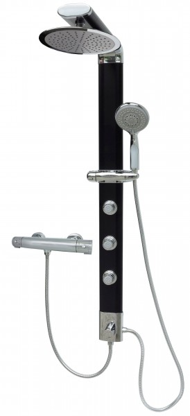 duschs ule brausepaneel duschpaneel regendusche schwarz thermostat 035b 25cm t badarmaturen. Black Bedroom Furniture Sets. Home Design Ideas