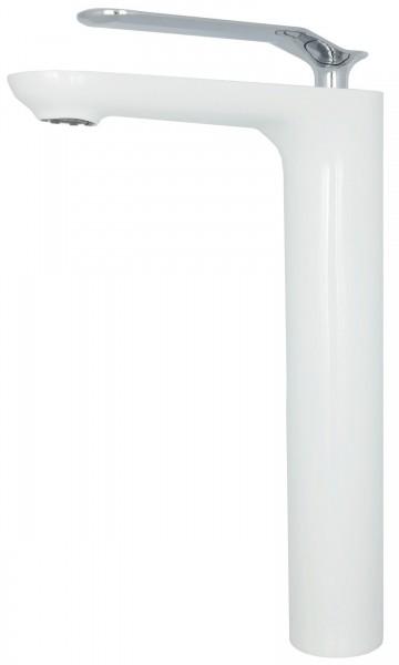 Waschbeckenarmatur Waschschalen Armatur Wasserhahn Chrom Weiß 065CP