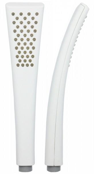 Handbrause Duschkopf Stabbrause Mikrofondusche Weiß mit Antikalk 6228W