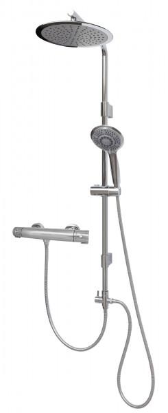 Brausesystem Thermostat Duschsystem mit großer runder Regenbrause 12003-25-T