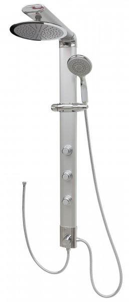 Duschpaneel ohne Mischer Brauseanschluss Dusche Regendusche Silber 035cs-25cm