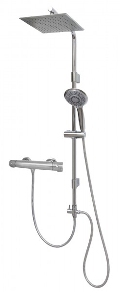 Thermostat Brausegarnitur Regenbrause Set variabele Wandhalter 12003-25x25-T